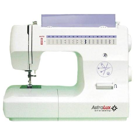 Astralux 2216Astralux<br>Швейная машина Astralux 2216. Челночное устройство - вертикальное, 18 строчек, петля выметывается в атоматическом режиме. 4 лапки в комплекте. Регулятор давления лапки на ткань.<br>