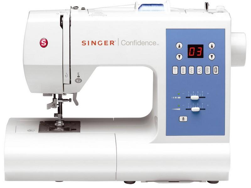 Singer 7465 ConfidenceSinger<br>50 строчек, 2 петли в автоматическом режиме, в комплекте 4 лапки, чехол мягкий. Челнок - горизонтальный.<br>