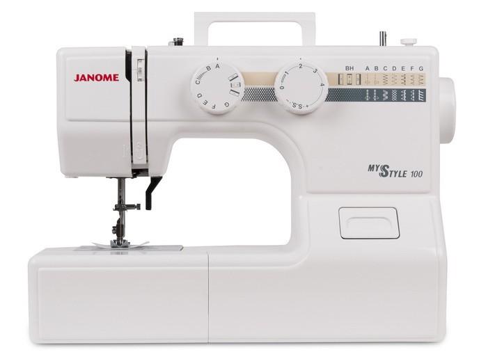 Janome MS 100Janome<br>Швейная машина Janome MS 100 (Janome My Style 100). 12 видов строчек (13 операций), в комплекте 4 лапки. Челнок - горизонтальный. Одна из самых доступных моделей Janome с горизонтальным челноком.<br>