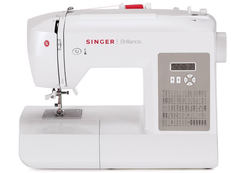 Singer 6180 BrillianceSinger<br>Швейная машина  Singer 6180 имеет вертикальное челночное устройство, выполняет 80 строчек. В комплекте имеет 4 лапки, мягкий чехол. 6 видов петель.<br>