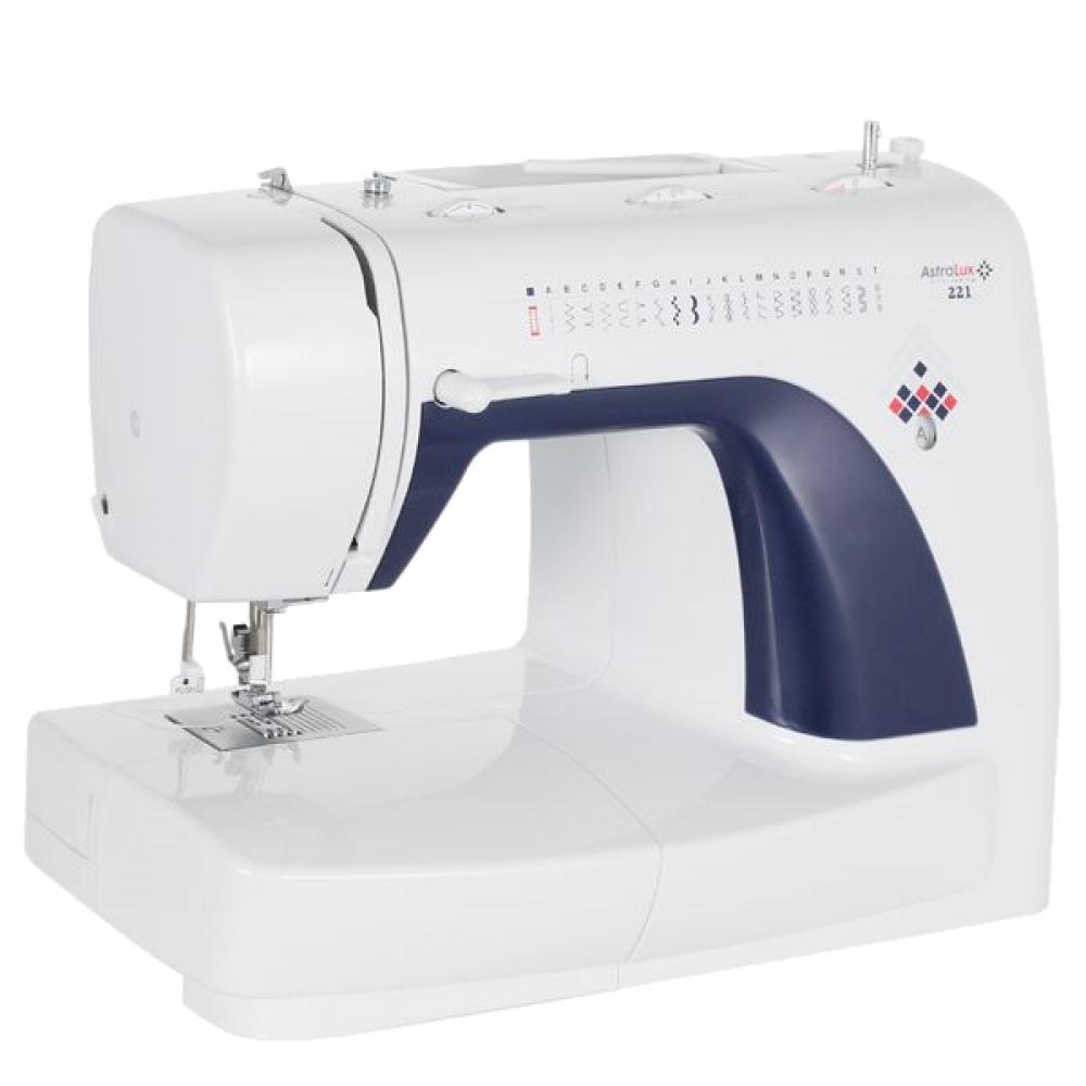 Astralux 221Astralux<br>Швейная машина Astralux 221. 21 строчка. Петля - автомат. Вертикальный челнок. 4 лапки в комплекте.<br>