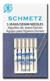 Игла SCHMETZ джинс № 100 (5 шт)Schmetz<br>Игла SCHMETZ джинс № 100 (5 шт)<br>