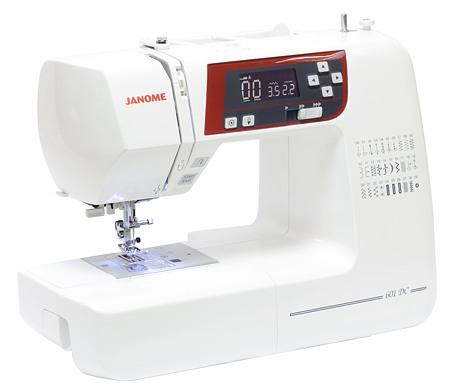 Janome 601 DCJanome<br>Janome DC 601 - электронная швейная машина, выполняющая 30 строчек. 4 вида петель в автоматическом режиме. Имеет плавную регулировку скорости, беспедальное шитье. Комплектация включает 6 видов лапок.<br>