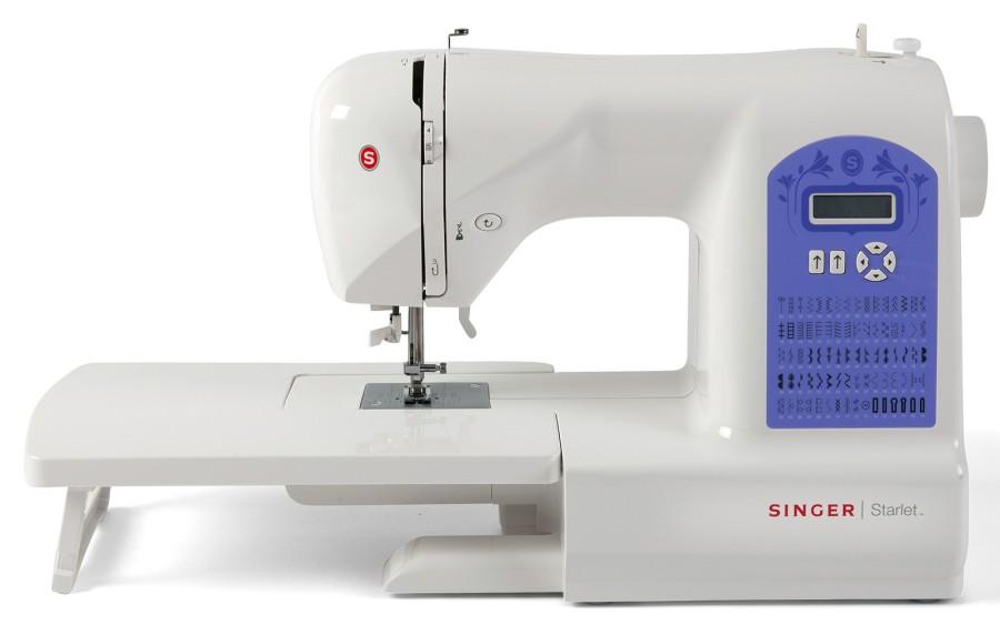 Singer 6680 StarletSinger<br>Singer Starlet 6680 - электронная швейная машина. Singer 6680 - выполняет 80 строчек, 6 петель в автоматическом режиме. 7 лапок в комплекте, приставной столик, мягкий чехол.<br>