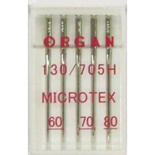 Иглы Organ микротекс №60-80 (5шт.)Organ<br>Иглы Organ микротекс №60-80 (5шт.)<br>