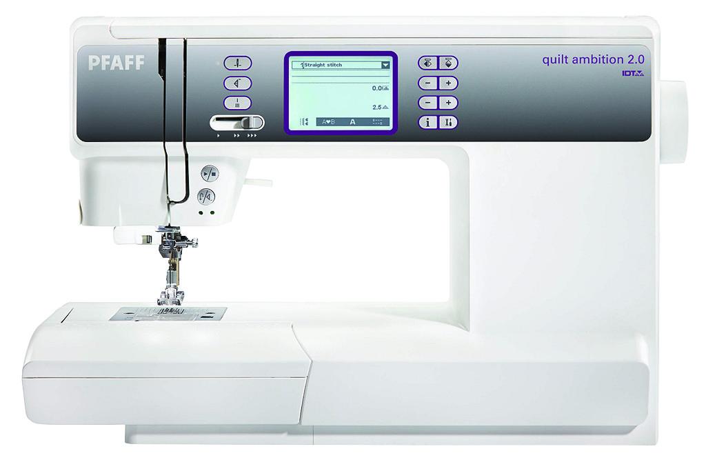 PFAFF ambition 2.0 quiltPFAFF<br>Электронная швейная машина PFAFF Quilt Ambition 2.0  со встроенным IDT (верхним транспортером ткани). PFAFF Ambition 1.5 отличается следующими особенностями: современный горизонтальный челнок, 201 строчка (рабочие, декоративные, оверлочные, для пэчворка и...<br>