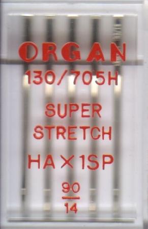 Иглы Organ супер стрейч №90 (5шт.)Organ<br>Иглы Organ супер стрейч №90 (5шт.)<br>