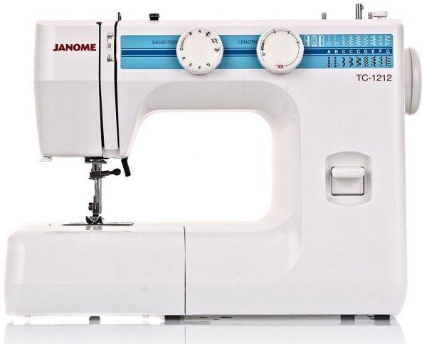 Janome ТC 1212Janome<br>12 видов строчек (19 операций), в комплекте 4 лапки. Челнок - вертикальный. Janome - идеальные швейные машинки для рукодельниц.<br>