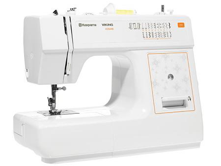 Husqvarna VIKING E10Husqvarna<br>Husqvarna Viking E10 - прекрасная швейная машина для начинающих. Вертикальный челнок, 18 строчек, Петля-полуавтомат, Освещение, 5 лапок в комплекте. Отличное качество строчки и скорость шитья.<br>