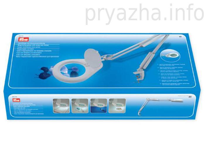 610713 Prym Лупа с подсветкой и приспособлением для крепленияДля шитья, пэчворка<br>610713 Prym Лупа с подсветкой и приспособлением для крепления<br>