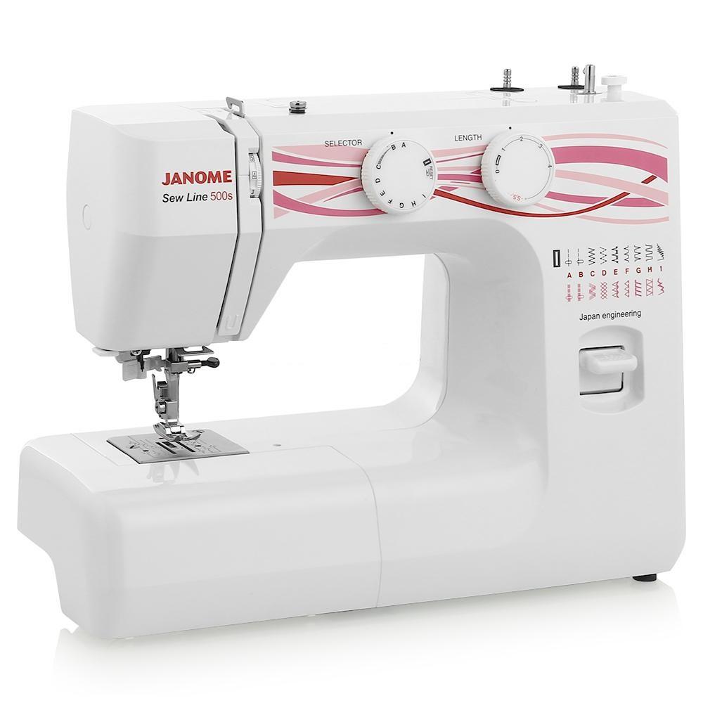 Janome Sew Line 500sJanome<br>Швейная машина Janome Sew Line 500s - 16 строчек, вертикальное челночное устройство. Петля в автоматическом режиме.<br>