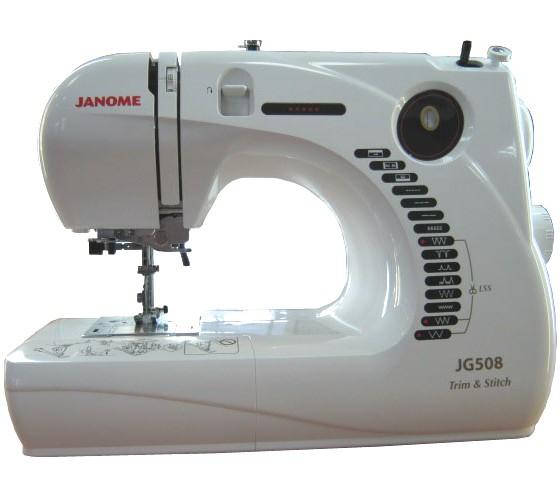 Janome JG 508Janome<br>Janome JG 508. 8 видов строчек, нитевдевающее устройство, в комплекте 3 лапки, чехол мягкий. Челнок - горизонтальный.<br>