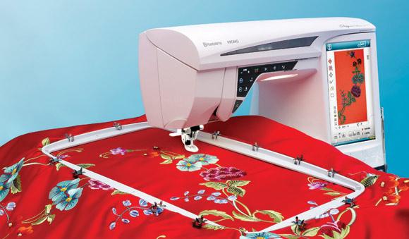 Husqvarna DESIGNER DIAMOND DELUXEHusqvarna<br>Швейно-вышивальная машина Husqvarna Designer Diamond DeLuxe - максимальная область вышивки - 350х360 мм.<br>