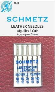 Игла SCHMETZ кожа (2х80, 2х90, 1х100)Schmetz<br>Игла SCHMETZ кожа (2х80, 2х90, 1х100)<br>