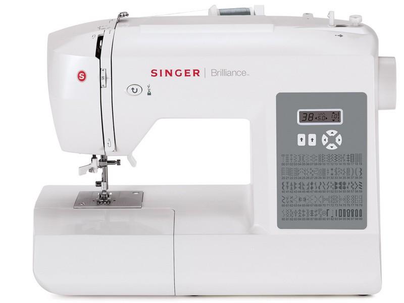 Singer 6199 BrillianceSinger<br>Швейная машина  Singer 6199 имеет вертикальное челночное устройство, выполняет 99 строчек. В комплекте имеет 4 лапки, мягкий чехол. 6 видов петель.<br>