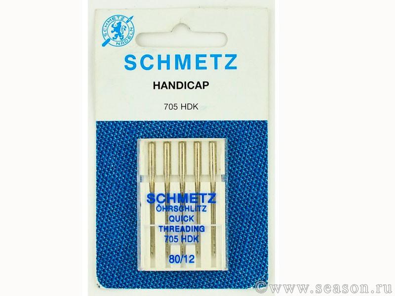 Игла SCHMETZ универ. (с прорезью сбоку) № 80 (5 шт)Schmetz<br><br>