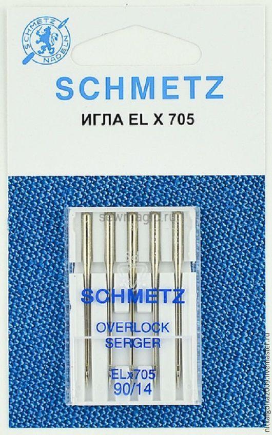 Иглы SCHMETZ для оверлоков №90(5шт.)Schmetz<br><br>