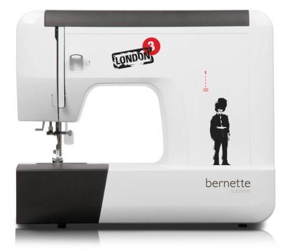 Bernina London 3Bernina<br>Швейная машина Bernina Bernette 12 имеет вертикальный челнок, выполняет 21 строчку, выметывает петлю в полуавтоматическом режиме. У машины Bernina 12 есть нитевдевающее устройство, а также дисплей отображения строчек.<br>