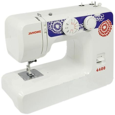 Janome 4400Janome<br>12 видов строчек, в комплекте 4 лапки. Челнок - вертикальный. Janome - идеальные швейные машинки для рукодельниц.<br>