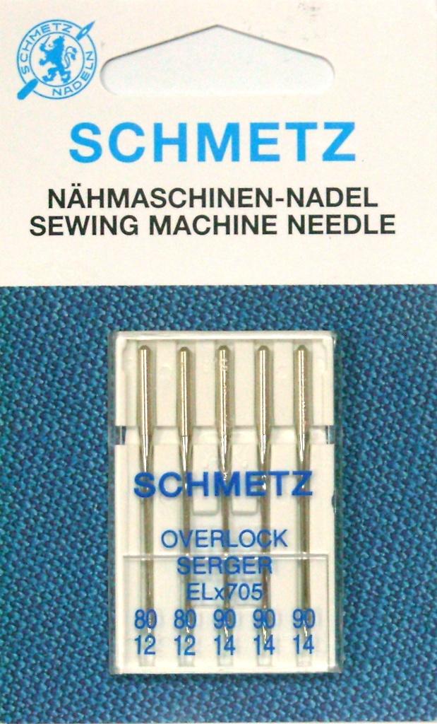 Иглы SCHMETZ для оверлоков (2х80, 3х90)Schmetz<br>Иглы SCHMETZ для оверлоков (2х80, 3х90)<br>