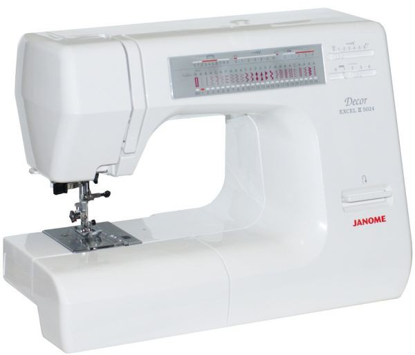 Janome DE 5024Janome<br>Швейная машина Janome Decor Excel 5024 имеет горизонтальное челночное устройство, выполняет 24 строчки. Имеет в комплекте  7 лапок, нитевдевающее устройство.<br>