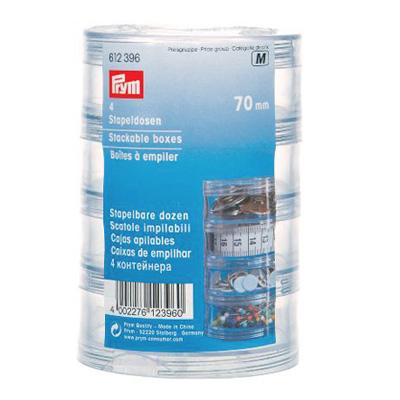 612396 Prym Набор контейнеров (4шт.), 70ммДля шитья, пэчворка<br>612396 Prym Набор контейнеров (4шт.), 70мм<br>