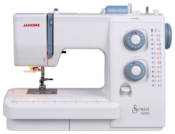 Janome Sewist 525 S (SE 522)Janome<br>Швейная машинка Janome Sewist 525s. 22 вида строчек (23 операции), в комплекте 5 лапок, нитевдевающее устройство, жесткий чехол. Челнок - горизонтальный.<br>