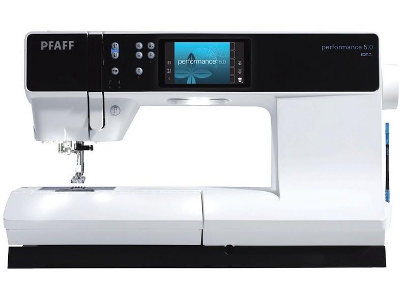 PFAFF performance 5.0PFAFF<br>Электронная швейная машина PFAFF Performance 5.0  - самая совершенная из швейных машин. Performance 5.0 может похвастаться следующими характеристиками: современный горизонтальный челнок, 12 видов петель в автоматическом режиме, 306 строчек (рабочие, оверл...<br>