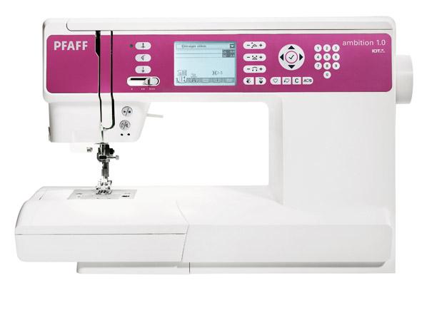 PFAFF ambition 1.0PFAFF<br>Электронная швейная машина PFAFF Ambition 1.0 обладает со встроенным верхним транспортером ткани. У машины  горизонтальный челнок, 136 строчек (рабочие, оверлочные, декоративные, для пэчворка и пр.) , 7 видов петель в режиме автомат, алфавит (2 вида), ЖК ...<br>