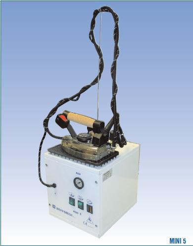 Rotondi  MINI 5  Парогенератор  3,8 литраRotondi<br>Парогенератор Rotondi Mini 5 с профессиональным электропаровым утюгом. Есть регулятор подачи пара, стальной бойлер. Достаточно компактный размер.<br>