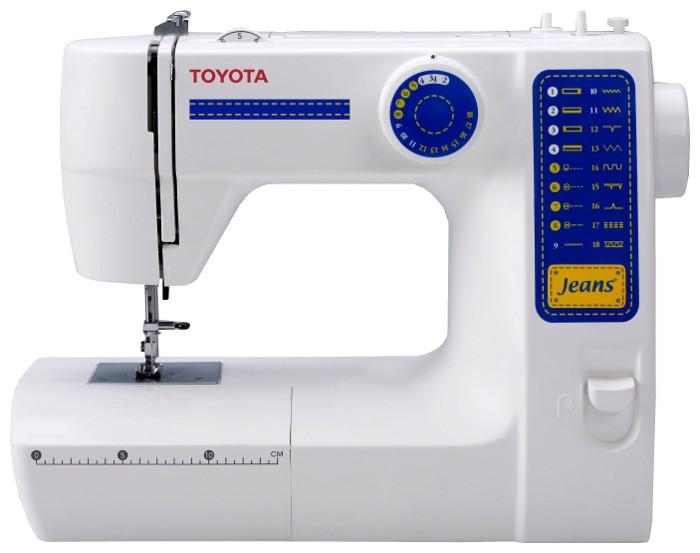 Toyota JFS 18Toyota<br>Швейная машина с вертикальным челночным устройством, имеет 11 строчек (18 операций), петля полуавтомат, мягкий чехол<br>
