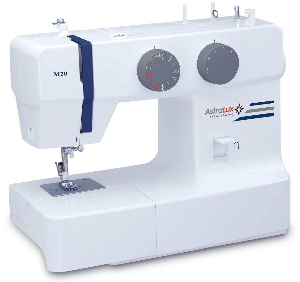Astralux M20Astralux<br>Швейная машина с вертикальным челноком. 10 операций, петля полуавтомат.<br>