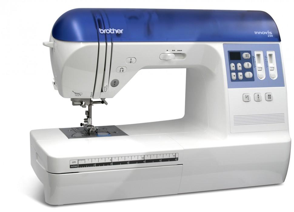 Brother NV 250Brother<br>Электронная швейная машина Brother NV 250. 79 строчек, 7 видов петель. Плавная регулировка скорости, беспедальное шитье.<br>