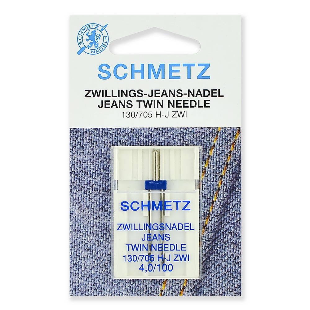 Игла SCHMETZ двойн.джинс №100/4,0 (1 шт)Schmetz<br><br>