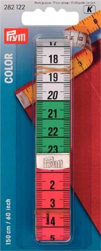 282122 Prym Измерительная лента Color, 1,5м/60, в блистереДля измерения и маркировки<br><br>