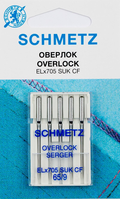 Иглы SCHMETZ для оверлоков (хромированные) №65 (5шт.)Schmetz<br><br>