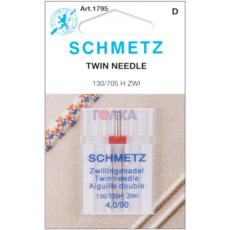 Игла SCHMETZ двойн.90\4,0 (1 шт)Schmetz<br>Игла SCHMETZ двойн.90\4,0 (1 шт)<br>