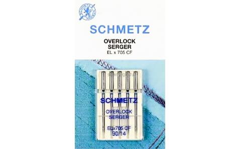 Иглы SCHMETZ для оверлоков (хромированные) №90 (5шт.)Schmetz<br><br>