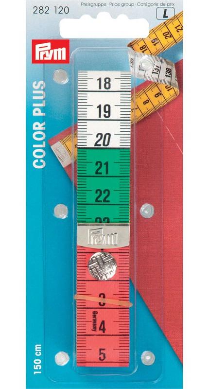 282120 Prym Измерительная лента Color Plus с кнопкой, 1,5м, в блистереДля измерения и маркировки<br><br>