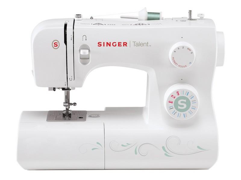 Singer 3321 TalentSinger<br>21 строчка, петля в полуавтоматическом режиме, в комплекте 4 лапки, чехол мягкий. Челнок - горизонтальный.<br>