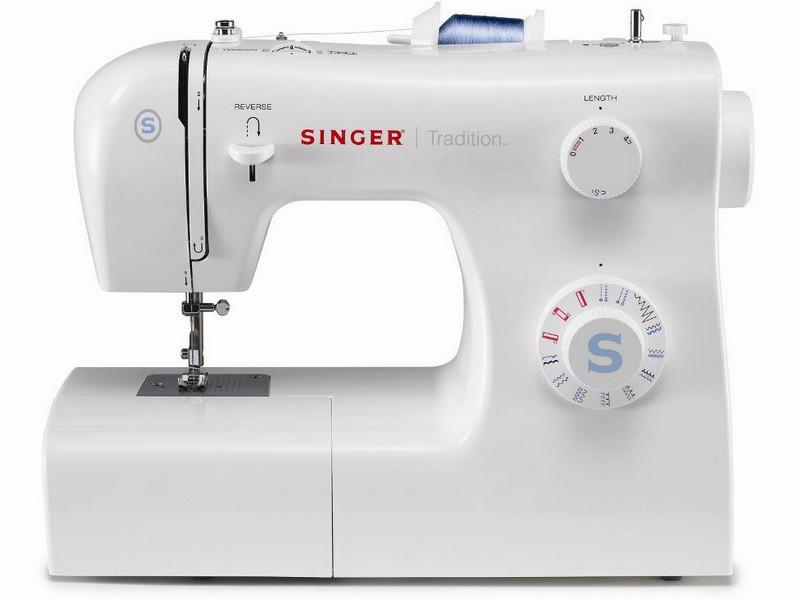 Singer 2259 TraditionSinger<br>Швейная машина  Singer 2259 - вертикальное челночное устройство, выполняет 18 строчек (22 операции). В комплекте имеет 4 лапки. Отличается современным дизайном, возможностью плавной регулировки ширины, длины стежка.<br>