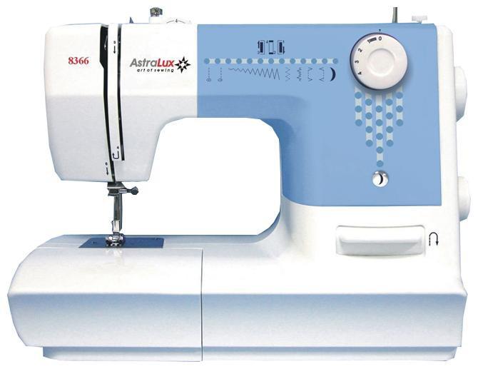 Astralux 8366Astralux<br>Швейная машина. Вертикальный челнок, 7 видов строчек. Петля полуавтомат.<br>