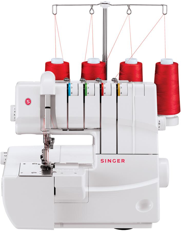 Машина плоскошовная Singer 14T970CSinger<br>Плоскошовная машина SInger 14T970C - 1/2/3-игольная модель. Выполняет 4 вида швов с помощью 2/3/4 ниток. Есть дифференциал, регулятор давления лапки на ткань, скорость шитья до 1100 ст./мин.<br>