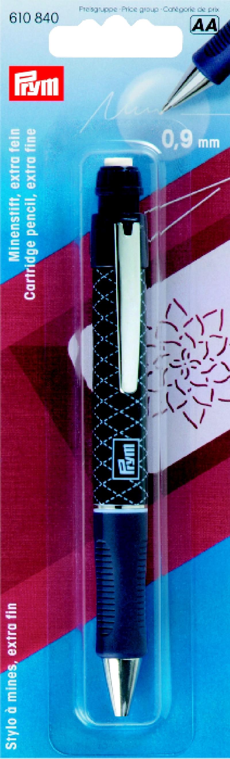 610840 Prym Механический карандаш (0,9мм) с 2-мя белыми грифелямиДля измерения и маркировки<br>610840 Prym Механический карандаш (0,9мм) с 2-мя белыми грифелями<br>