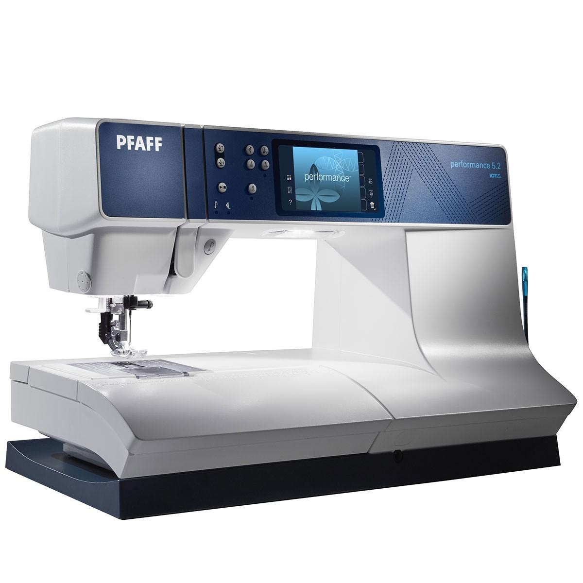 PFAFF performance 5.2PFAFF<br>Электронная швейная машина PFAFF Performance 5.2  - новая машинка в серии Performance. Самая совершенная из швейных машин. Performance 5.2 может похвастаться следующими характеристиками: современный горизонтальный челнок, 12 видов петель в автоматическом ...<br>