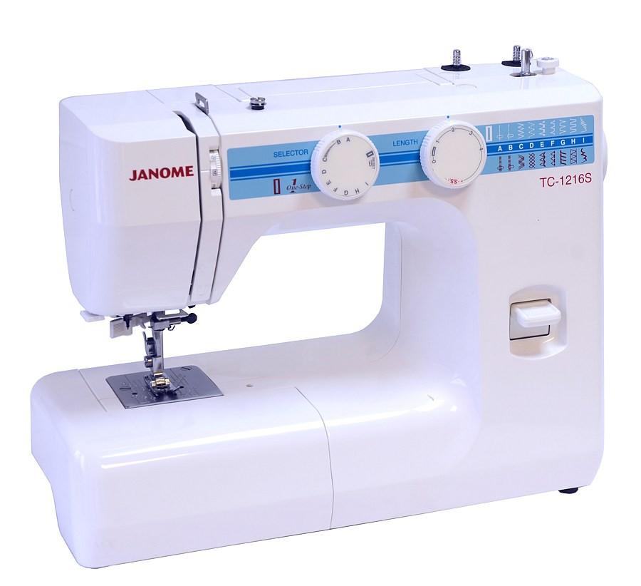 Janome ТC 1216 SJanome<br>Швейная машина Janome TC 1216s имеет вертикальное челночное устройство, выполняет 16 строчек. В комплекте имеет 4 лапки. Петля выметывается в автоматическом режиме.<br>