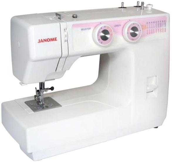 Janome JT 1108Janome<br>8 видов строчек (9 операций), в комплекте 5 лапок, чехол мягкий. Челнок - вертикальный.<br>