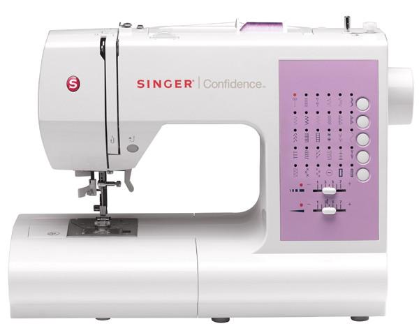 Singer 7463 ConfidenceSinger<br>30 строчек, 2 петли в автоматическом режиме, в комплекте 4 лапки, чехол мягкий. Челнок - горизонтальный.<br>