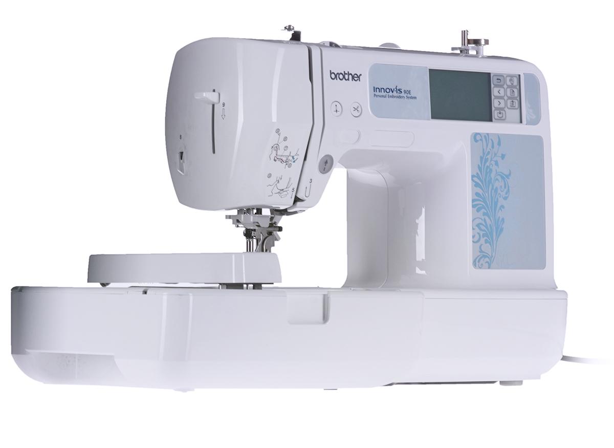 Brother NV 90ЕBrother<br>Вышивальная машина Brother NV 90Е. Простая и компактная вышивальная машина начального уровня. Область вышивки 100x100 мм. Максимальная скорость вышивки - 400 ст./мин.<br>