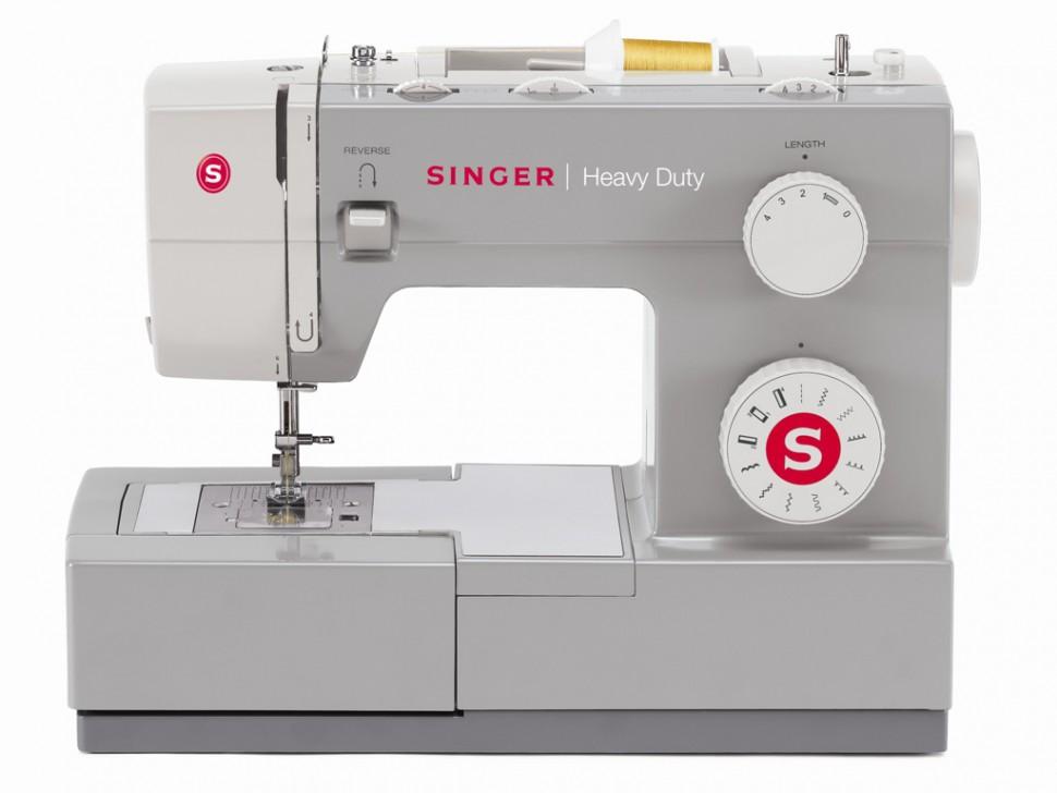 Singer 4411 Heavy DutySinger<br>11 строчек, петля в полуавтоматическом режиме, в комплекте 4 лапки, чехол мягкий. Челнок - горизонтальный.<br>